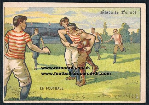 1890s Pernot Biscuits  rugby card